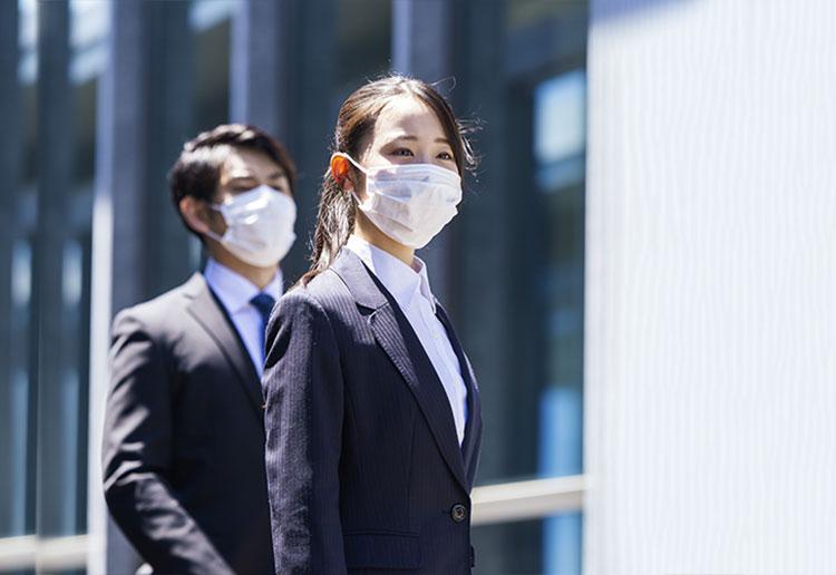 外出時、および訪問査定時のマスク着用の徹底