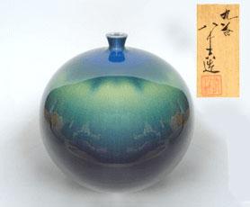 三代 徳田八十吉 花瓶