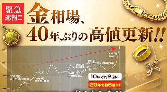 金相場が40年ぶりに過去最高値!