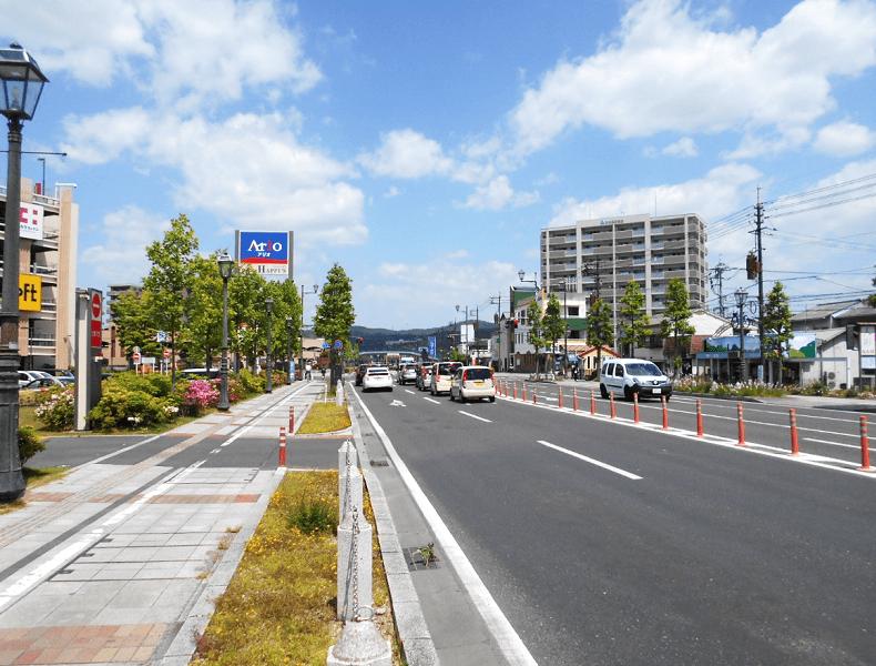JR倉敷駅北口より県道24号を北上します。