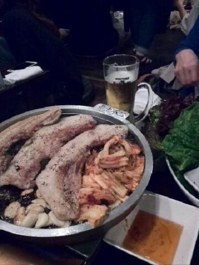 あの「サムギョプサル」食べてきました♪ 【稲里中央店】 長野県長野市にあるザ・ゴールド 稲里中央店の画像2