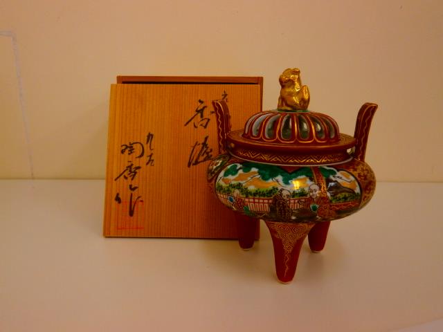骨董 九谷焼 香炉 石川県金沢市にあるザ・ゴールド 金沢玉鉾店の画像1
