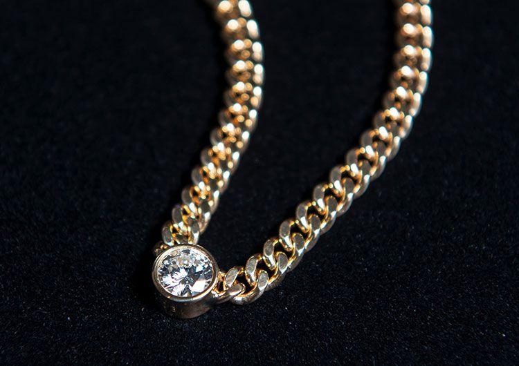18金 ダイヤ1ct ネックレス