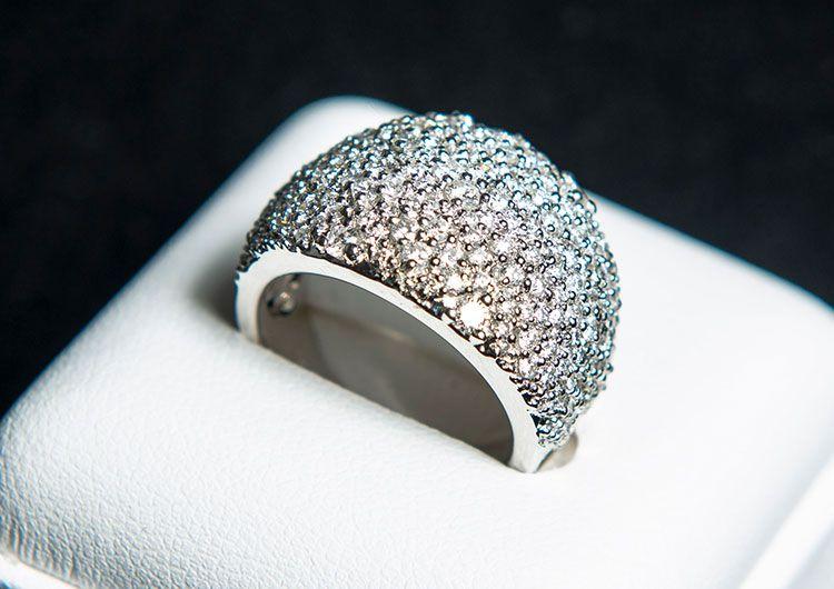 Pt900 ダイヤモンド2ct マイクロリング